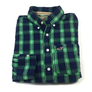 🌴BF381 Hollister HCO Plaid Button front shirt S